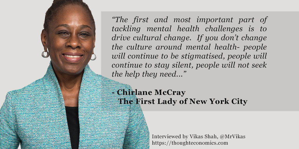 On Mental Health & Cities – A Conversation with The First Lady of NYC, Chirlane McCray