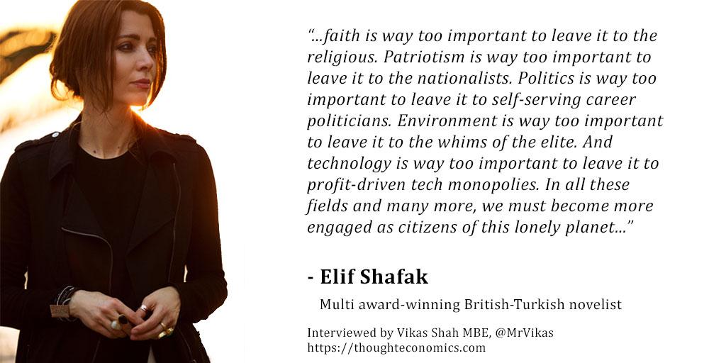 A Conversation with Elif Shafak – Thought Economics