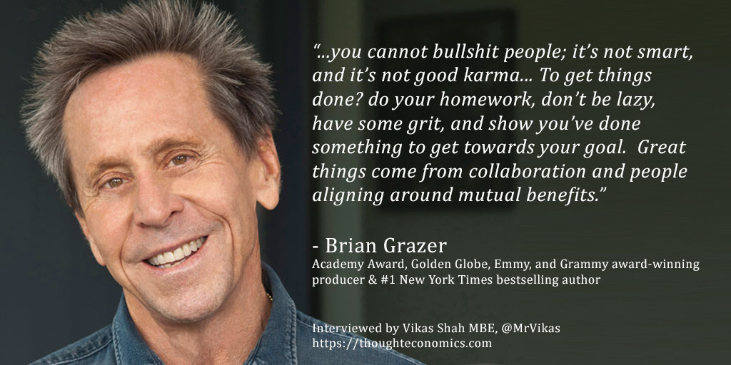 A Conversation with Brian Grazer, Film Producer & Renaissance Man