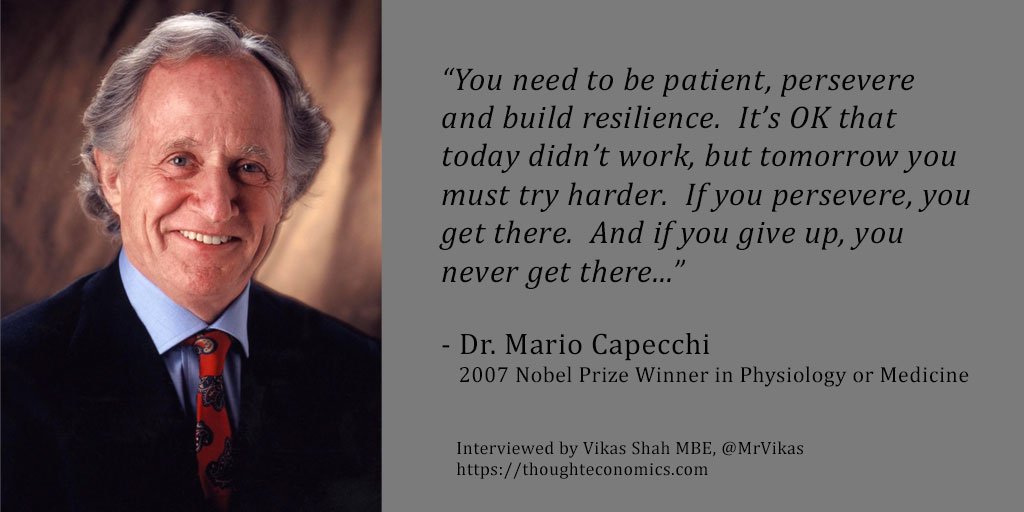 From Homeless to Nobel Prize: A Conversation with Dr. Mario Capecchi.