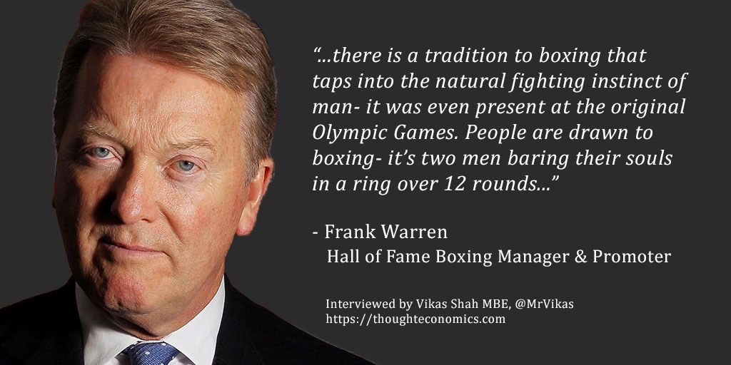 A Conversation with Frank Warren – Hall of Fame Boxing Promoter & Manager