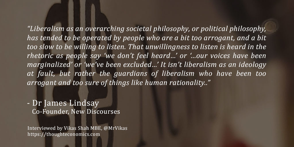 On Critical Theory: A Conversation with Dr. James Lindsay, Co-Founder of New Discourses.
