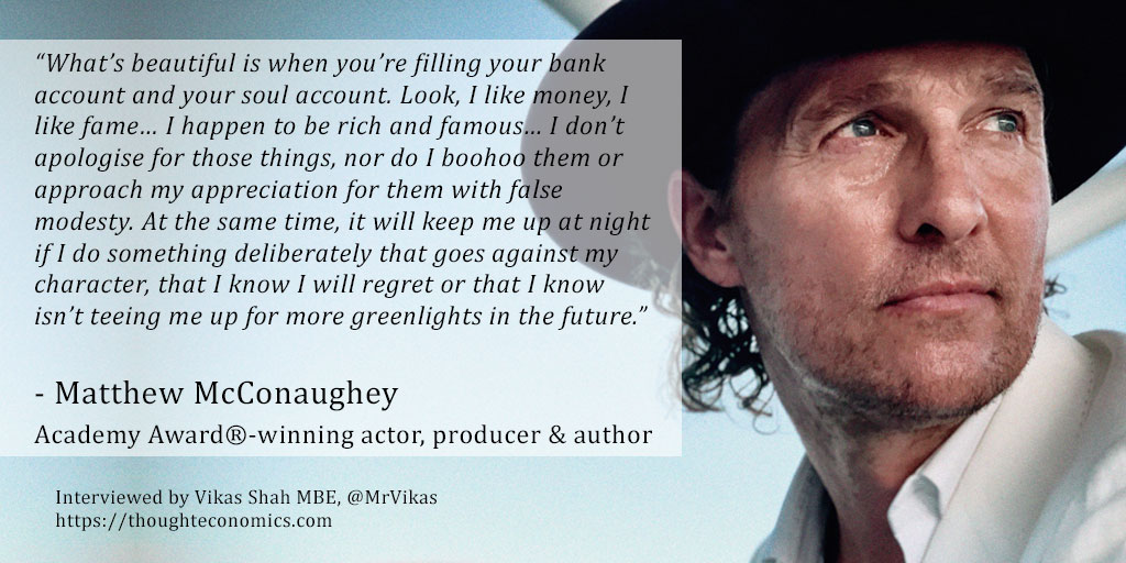 A Conversation with Matthew McConaughey, Actor, Producer & Author